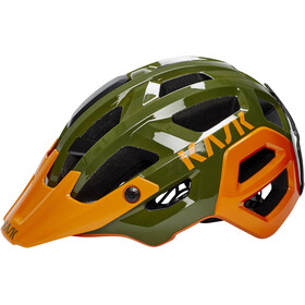Kask Rex Casco, dark green/orange